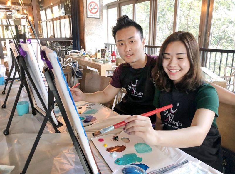 sip-and-paint-my-malaysia-kl-outing-activity-painting-the-restaurant-kuala-lumpur