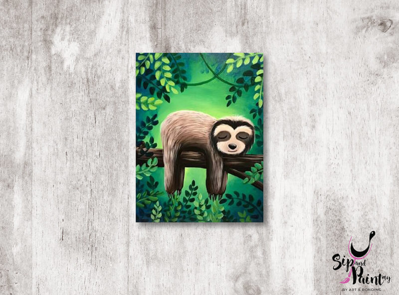 The-Lazy-Sloth-wine-and-canvas-art-class-wine-beer-lunch-hubba-mont-kiara-kid-friendly-family-01